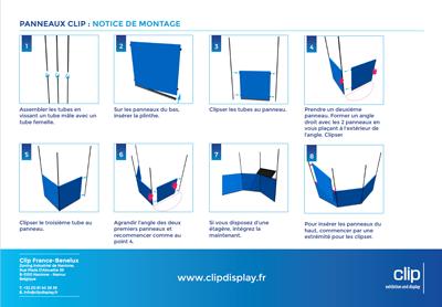 notice montage panneaux clip
